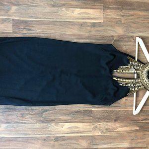 Topshop XS Black Embellished Mini Dress